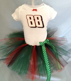 NASCAR Dale Earnhardt Jr 88 Tutu Cheer Dress for Baby Girls with FREE SHIPPING