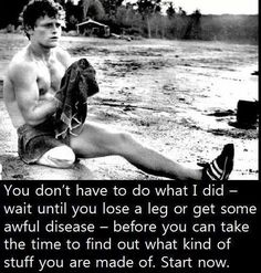 Terry Fox, for me, is what being Canadian means. A true inspiration!