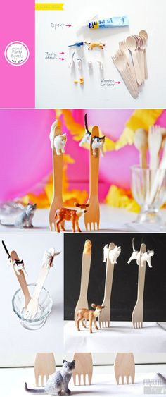Animal Party Spoons