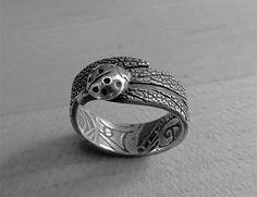 Sage & Lady Bug ring