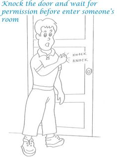 kids table manners coloring pages - photo#37