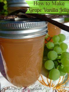How to Make Low Sugar Grape Vanilla Jelly « Melissa K. Norris