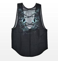 "Chiffon Criss Cross ""Cat"" Tank. #hotforholiday"