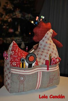 This is a cute sewing organization idea.