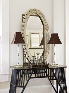 Quick Mirror Makeover--love the layered look