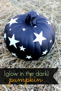 Glow in the Dark Pumpkin from Gingersnap Crafts