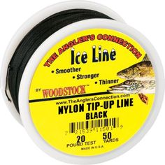 """""""So far this has been great line. Its weathering the cold an ice well."""" -review of the Woodstock 200-yard Tip-Up Line - Black"""