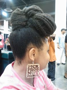 Updo natur hairstyl, updohairstyl hair, natur updo, natural earrings, afro hair, girl hairstyles, hair style, beauti, pick fros
