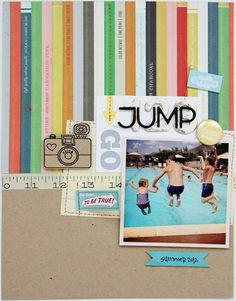 Summer Theme: 123 JUMP by Shannon Tidwell - Two Peas in a Bucket #scrapbooking #summer