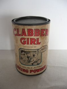 Clabber Girl Baking Powder in Bold Bright Red Letters