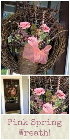 pink spring wreath 6 spring wreaths