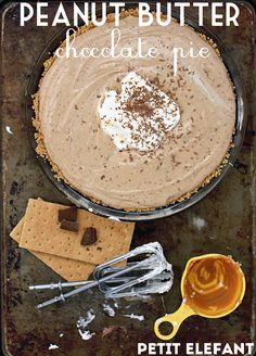 delicious peanut butter chocolate pie