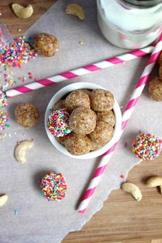 "Healthy, No-Bake ""Sugar"" Cookie Energy Bites  all natural, guilt free and won't leave you with the post sugar cookie crash"