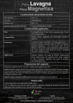 Scheda Tecnica Pittura Lavagna Magnetica by Colorificio Mazza www ...