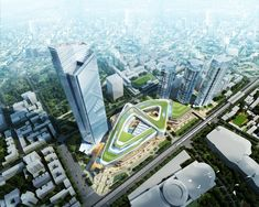 Aedas Designs A Chinese Knot Tie Mixed-Use Development With High-Rise Tower