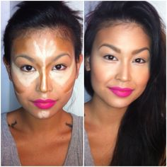 Conceal/Highlight/Contouring contour makeup, beauty tips, beauty hacks, makeup tricks, face contouring, makeup lips, lip colors, highlight, beauty tricks