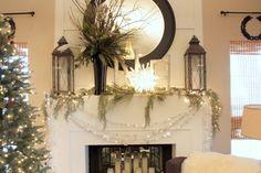 Christmas Mantel holiday, christma mantl, fireplace mantles, color, decorating ideas, christma decor, christma mantel, christmas mantles, christmas mantels