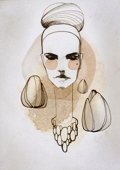 Ekaterina Koroleva #illustration #girl #ekaterina #koroleva #design #editorial