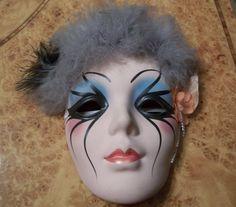 Beautiful Mardi Gras Ceramic Wall Mask New by NanasVintageShop, $19.95