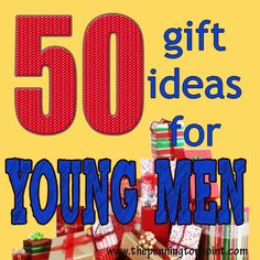 50 gift ideas for young men (they are SO hard to buy for!) boy gift, buy, christma gift, gift ideas, young men, gifts, 50 gift, young man, hard