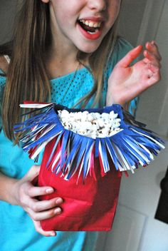 Serve snacks with a bang—make these easy Firecracker Popcorn Bags (Family Chic)
