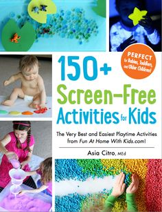 A new full-color activity book with over 150 ideas for babies, toddlers, preschoolers, and ages 5 and up. Full of allergen-free and taste-safe play recipes for slimes, doughs, paints, and simple sensory activities. Also includes a chapter on small world imaginative play and DIY homemade toys! It'll be in stores this fall, but you can pre-order it now! From the writer of Fun at Home with Kids