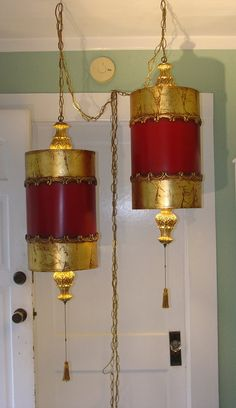 GORGEOUS HOLLYWOOD REGENCY / Mid Century Swag Lamps  by retro33604, $200.00