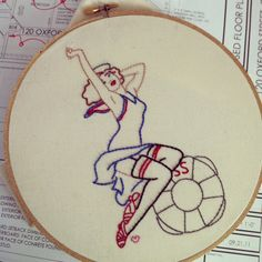 sublime stitching pin up - Google Search pinup embroidery, embroideri idea, vintag embroideri, grandmoth embroideri, sublim stitch, embroideri stuff, stitch pin