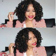 @TheChicNatural Crochet Braids w/Marley Hair.