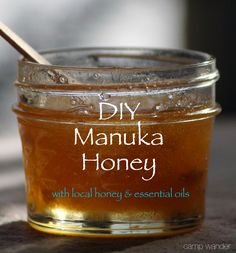 Make Your Own Medicinal Honey 4 oz. glass jar add organic honey stir 1 drop Melaleuca, 2 drops Frankincens 2 drops Lavender  Melaleuca: anti-bacterial anti-fungal anti-septc,anti-biotic,analgesic anti-oxidant, anti-parasitic anti-viral expectorant decongestant Frankincense:anti-inflammatory, anti-infectious, anti depressant, anti-cancer Lavender:tissue restoration, anti-histamin, anti-coagulant anti-convulsant anti-depressant anti-fungal Seal lid tightly For wound care sore throats eczema,.