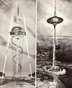 concept art for the 1962 Seattle Fair Space Needle