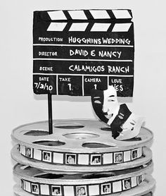 Clapboard Movie Centerpiece