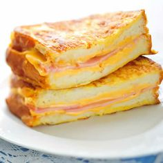 sandwiches (buttered-side out) with the Cheddar, cream cheese, hot ...