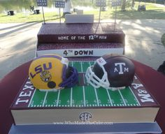 If cupcakes and cookies won't work for you this weekend, how about a Texas A&M vs. LSU cake? BTHO LSU!