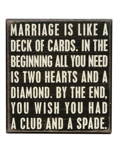 Marriage is Wall Art //