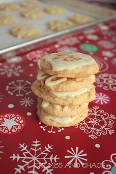Glazed Eggnog Cookies