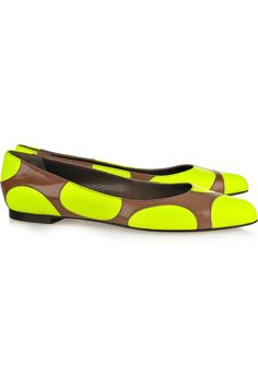 Marni neon and neutral flat