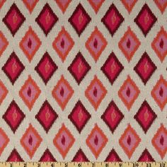 Premier Prints Carnival Oatmeal/Rosa  Item Number: UO-854  Our Price: $12.98 per Yard