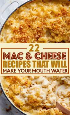 Don't get me wrong, good ole boxed mac and cheese is great, but a  nice homemade recipe is to die for. I found 15 Mac and Cheese recipes that will  make your mouth water and I just had to share them with you. #recipes #easyrecipes #funrecipes #deliciousrecipes  #recipeideas #easyrecipeideas #yummyrecipes #cooking #macandcheese #casserole