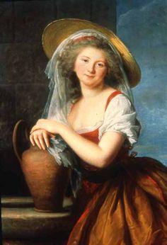 1786 marguerite Baudard de Saint James, marquise de Puységur, dressed as milkmaid