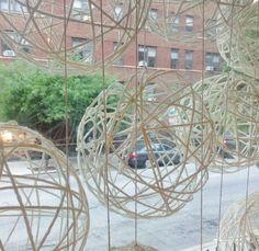 September Window Display: DIY Yarn Balls | Urban Soiree Chicago