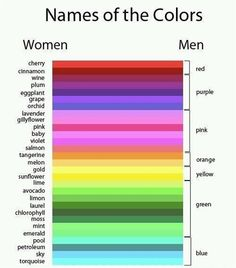 So funny! How men and women can see colors differently