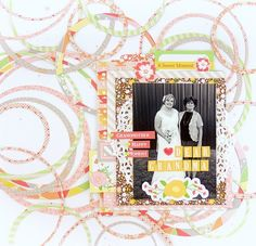 Dear Grandma by Allie Stewart - Scrapbook.com - Cut rings of different sizes for a beautiful, unique wedding layout background.