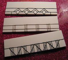 Japanese stab binding #3: jewels, fences, and bridges by beccamakingfaces