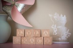 Baby blocks as decor