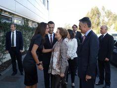 Chegada do Presidente Anibal Cavaco Silva e da 1ª Dama Maria Cavaco Silva à Fábrica do criador Luís Onofre. Com Luís onofre e Sandra Cachide