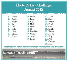 August 2012 Photo a Day Challenge