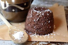 Coconut Chocolate Mocha Mug Cake Shared on https://www.facebook.com/LowCarbZen | #LowCarb #Breakfast