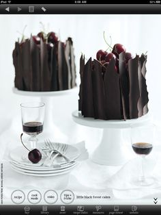 The Little Black Forrest Cake from Donna Hay