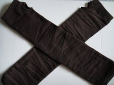 Upcycled Fingerless Gloves Arm Warmers  Coffee Brown by UneekStyle, $10.00